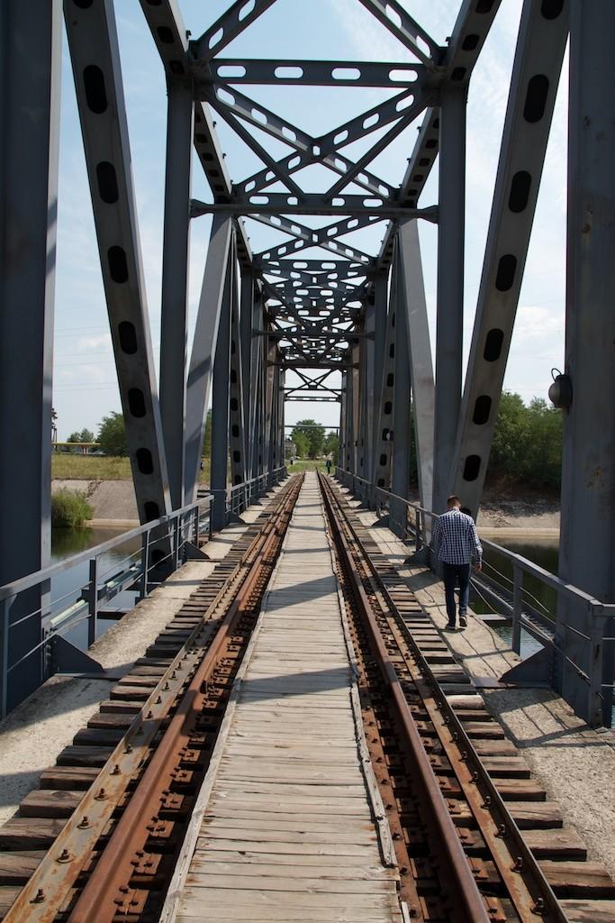 Eisenbahnbrücke in Pripyat