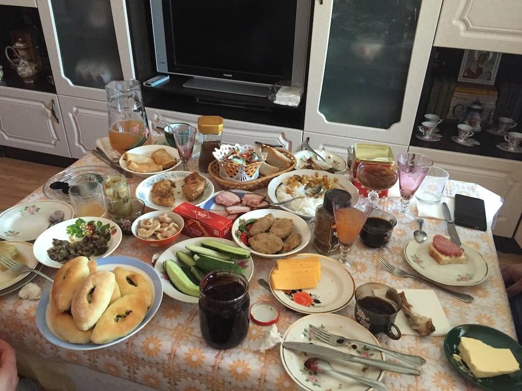 Frühstück in Kusnezk